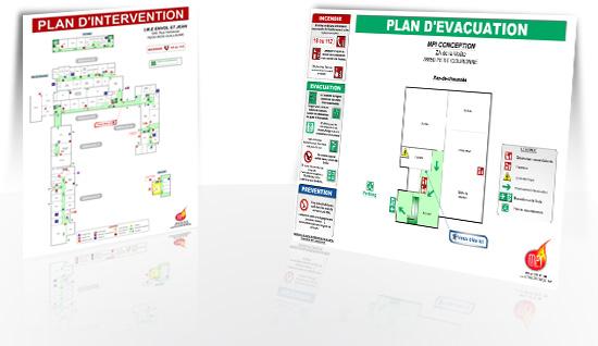 Création de plans d'intervention et d'évacuation incendie